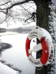 Swedish life preserver at lake Lilla Färgen in Västergötland