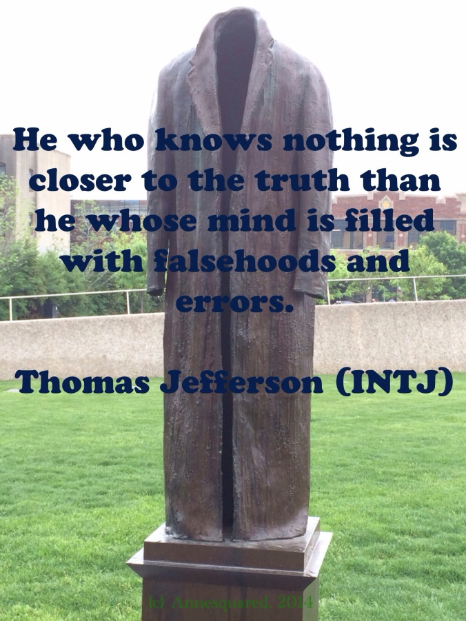 INTJ Thoughts from Thomas Jefferson.